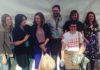 After the panel: Julia Wilson, me, Hannah Fox, Adam Lewis, Evelyn Morris, Danni Zuvela, Laura Snapes
